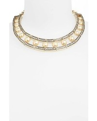 hellbeige Perlenkette