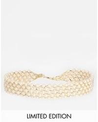hellbeige Perlenkette von Asos