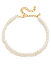 hellbeige Perlenkette von Kenneth Jay Lane