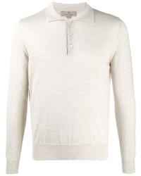 hellbeige Polo Pullover von Canali