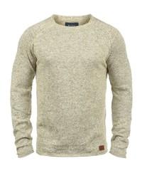 hellbeige Pullover mit einem Rundhalsausschnitt von BLEND