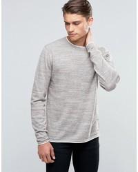 hellbeige Pullover mit einem Rundhalsausschnitt von Esprit