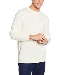 hellbeige Pullover mit einem Rundhalsausschnitt von Gant