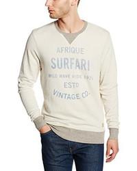 hellbeige Pullover mit einem Rundhalsausschnitt von JACK & JONES VINTAGE