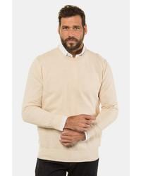 hellbeige Pullover mit einem Rundhalsausschnitt von JP1880