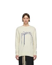 hellbeige Pullover mit einem Rundhalsausschnitt von Loewe