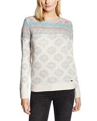 hellbeige Pullover mit einem Rundhalsausschnitt von Rip Curl