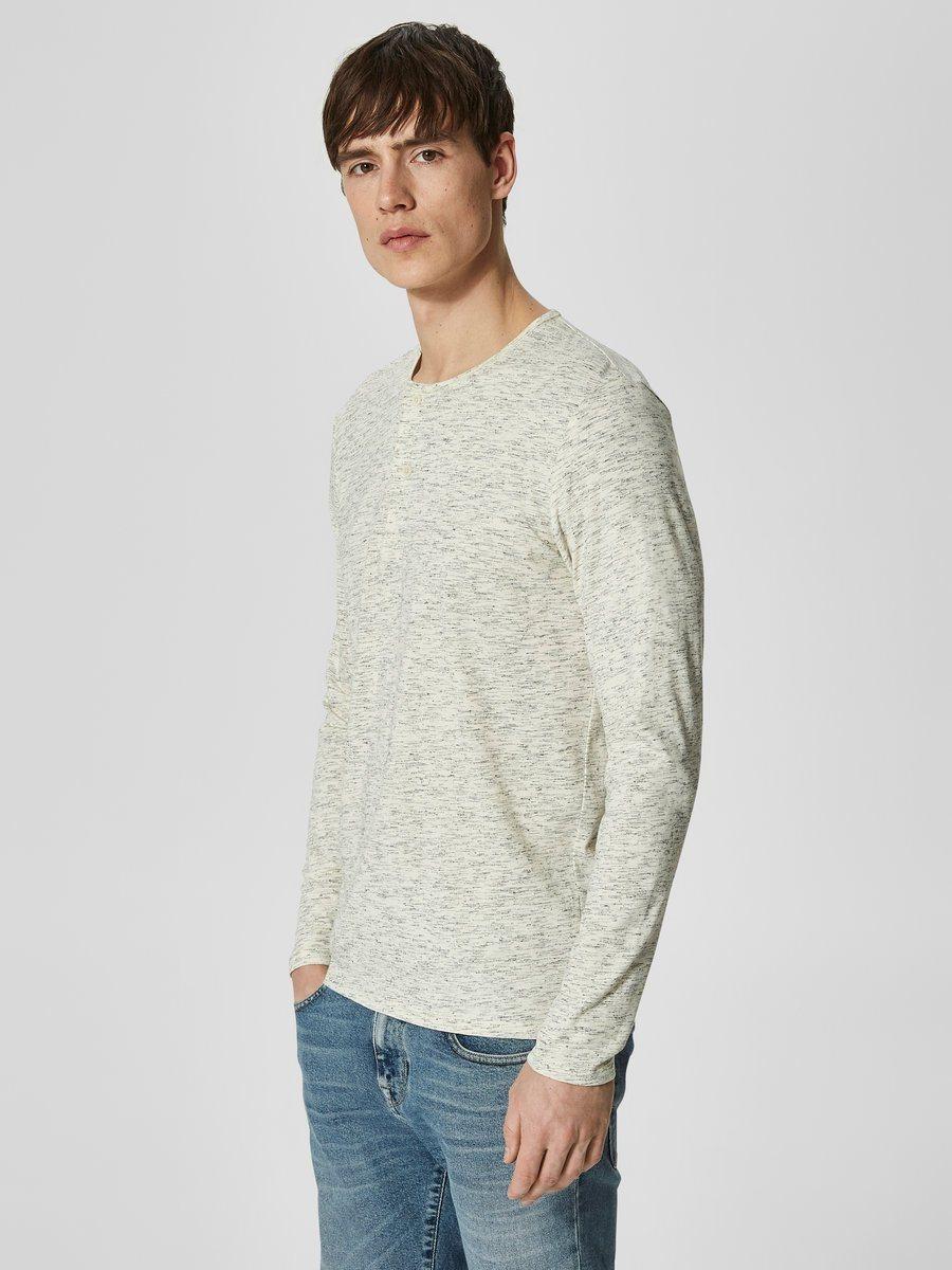 hellbeige Pullover mit einem Rundhalsausschnitt von Selected Homme