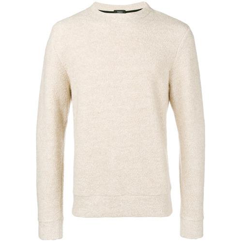 hellbeige Pullover mit einem Rundhalsausschnitt von Theory
