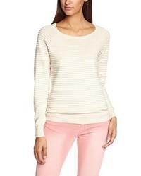 hellbeige Pullover mit einem Rundhalsausschnitt von Vero Moda