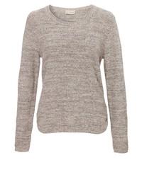 hellbeige Pullover mit einem Rundhalsausschnitt von VIA APPIA