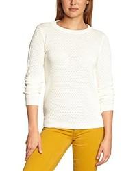 hellbeige Pullover mit einem Rundhalsausschnitt von VILA CLOTHES