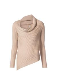 hellbeige Pullover mit einer weiten Rollkragen von Tome