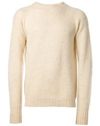 Hellbeige pullover mit rundhalsausschnitt original 1761369