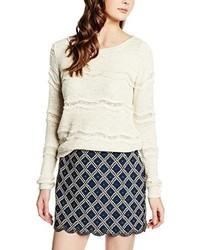 Hellbeige Pullover mit Rundhalsausschnitt von Vero Moda