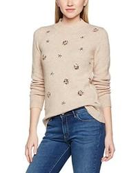 hellbeige Pullover mit Weihnachten Muster von Dorothy Perkins
