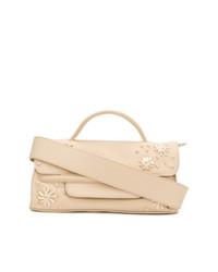 hellbeige Satchel-Tasche aus Leder von Zanellato