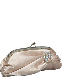 hellbeige Satin Clutch