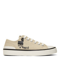 hellbeige Segeltuch niedrige Sneakers von Isabel Marant