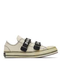 hellbeige Segeltuch niedrige Sneakers von Palm Angels