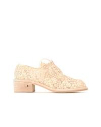 hellbeige Segeltuch Oxford Schuhe von Laurence Dacade