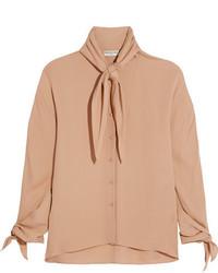 hellbeige Seide Bluse von Balenciaga