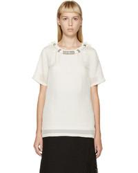 hellbeige Seide T-shirt von Lanvin