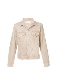 hellbeige Shirtjacke aus Cord
