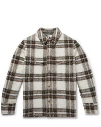 hellbeige Shirtjacke mit Schottenmuster von Isabel Marant