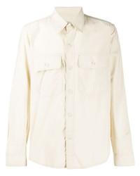 hellbeige Shirtjacke von Ami Paris