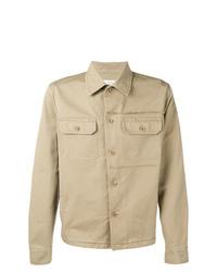 hellbeige Shirtjacke von Maison Margiela
