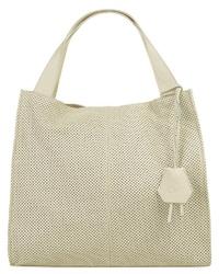 hellbeige Shopper Tasche aus Leder von CLUTY