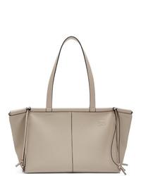 hellbeige Shopper Tasche aus Leder von Loewe