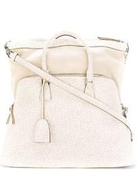 hellbeige Shopper Tasche aus Leder von Maison Margiela