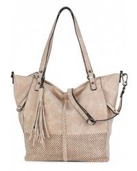 hellbeige Shopper Tasche aus Leder von SURI FREY