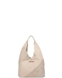 hellbeige Shopper Tasche aus Leder von Taschendieb Wien