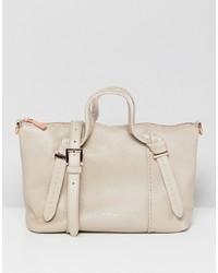 hellbeige Shopper Tasche aus Leder von Ted Baker