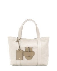 hellbeige Shopper Tasche aus Leder von Tila March