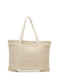 hellbeige Shopper Tasche aus Segeltuch von Homme Plissé Issey Miyake