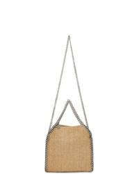 hellbeige Shopper Tasche aus Stroh von Stella McCartney