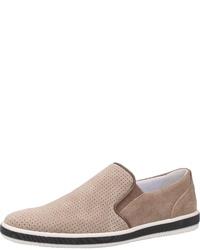 hellbeige Slip-On Sneakers aus Wildleder von IGI&CO
