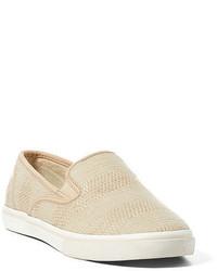 hellbeige Slip-On Sneakers