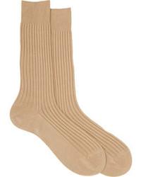 hellbeige Socke