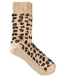hellbeige Socken mit Leopardenmuster von Asos
