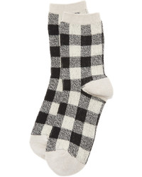 hellbeige Socken mit Schottenmuster von Madewell