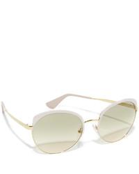 hellbeige Sonnenbrille von Prada