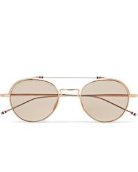 hellbeige Sonnenbrille von Thom Browne