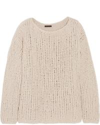 hellbeige Strick Oversize Pullover von Donna Karan