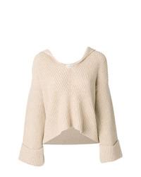 hellbeige Strick Oversize Pullover von Forte Forte