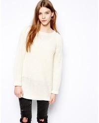hellbeige Strick Oversize Pullover von Monki